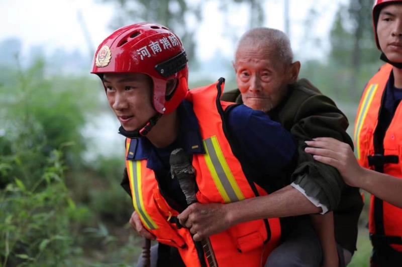 凯旋归建!河南消防跨区域增援安徽抗洪抢险任务圆满完成
