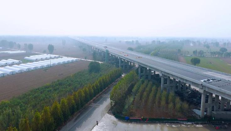 臺輝高速公路黃河特大橋全線貫通 促進中原經濟區建設具有重要意義