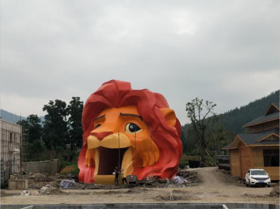 弘美雕塑打造真实版木法沙可爱狮子头 - 今报网_东方